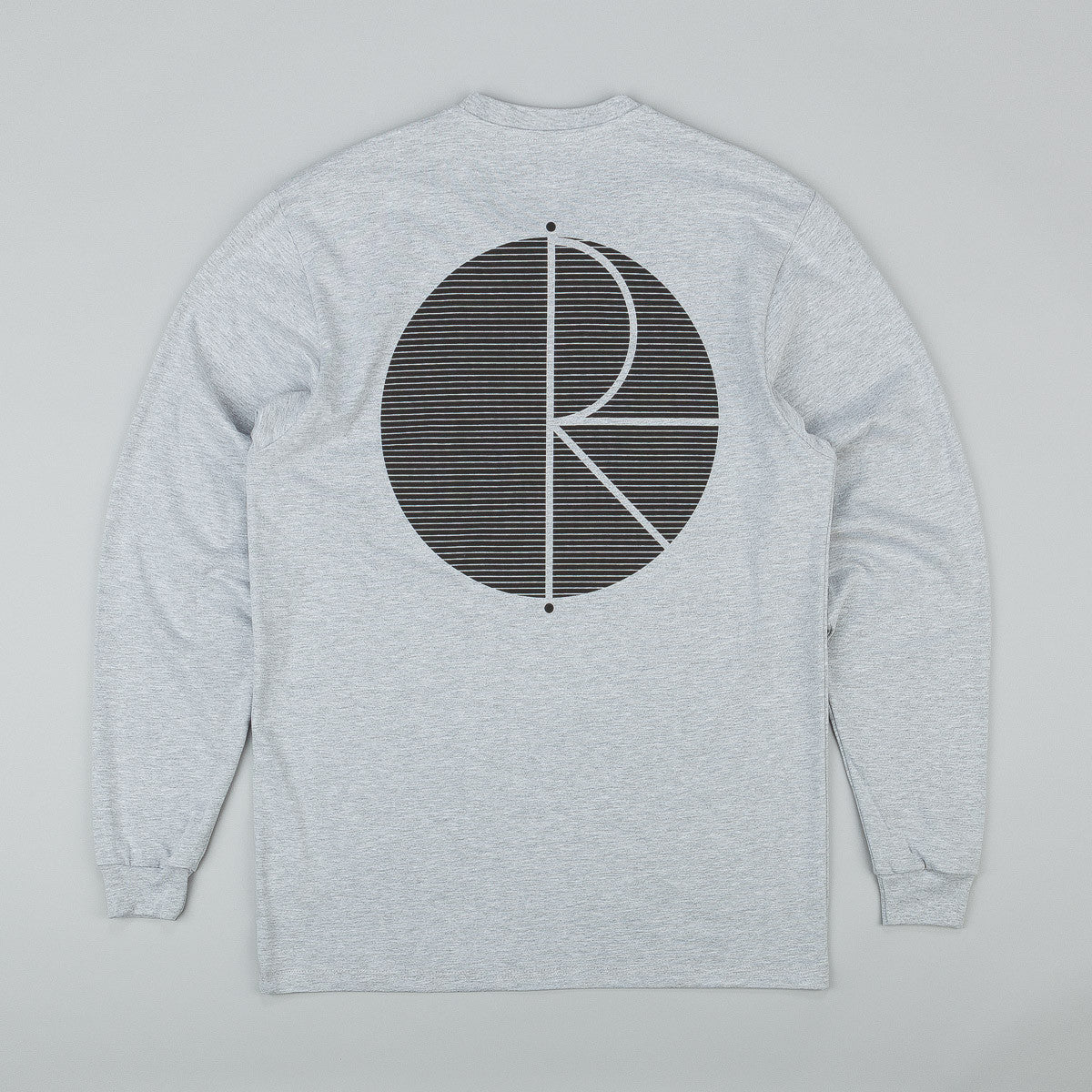 Polar Fill Logo Behind The Curtain Longsleeve T-Shirt - Grey Heather / Black