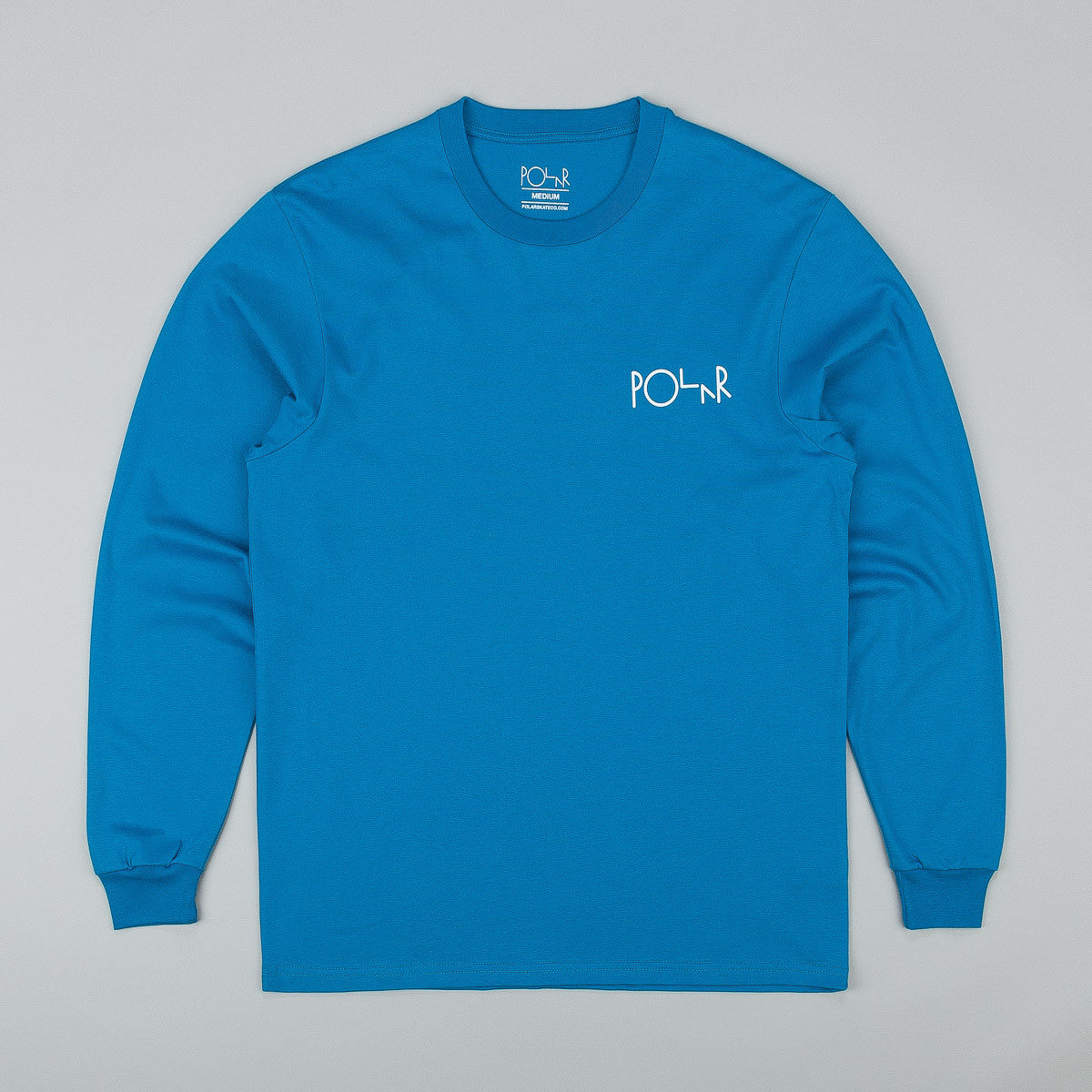 Polar Fill Logo Behind The Curtain Long Sleeve T-Shirt - Obsidian Blue /White