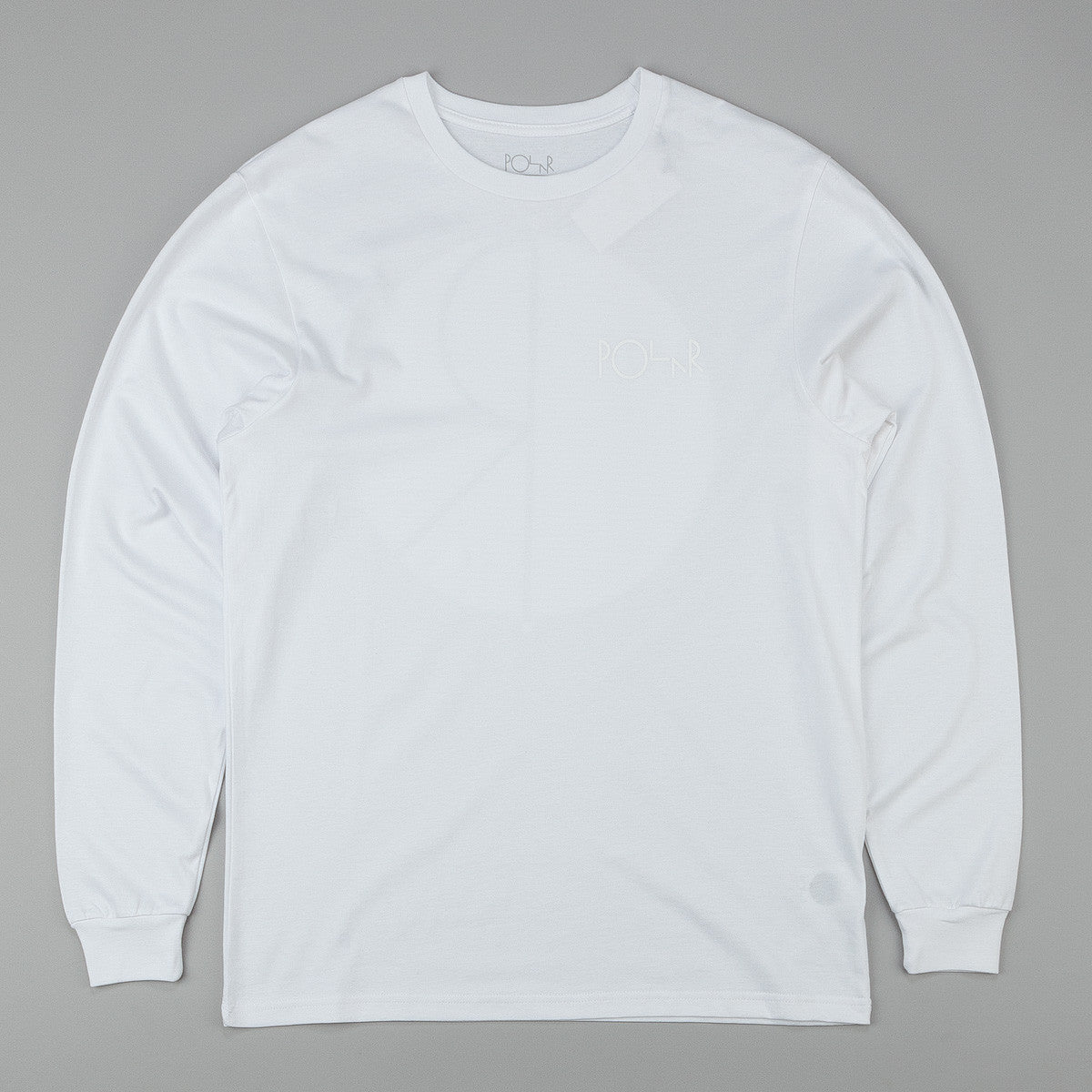 Polar Fill Logo Behind The Curtain Longsleeve T-Shirt - White / White