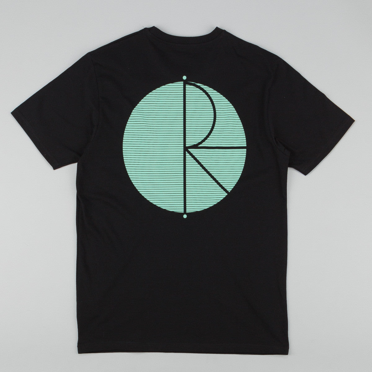 Polar Fill Logo Behind The Curtain T-Shirt - Black / Pastel Mint