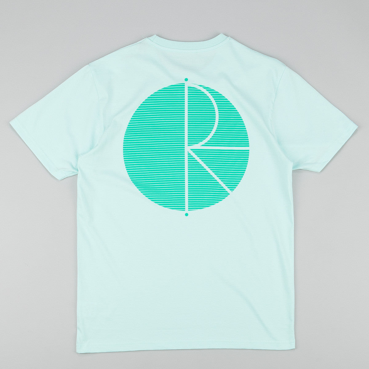 Polar Fill Logo Behind The Curtain T-Shirt - Pastel Mint / Green