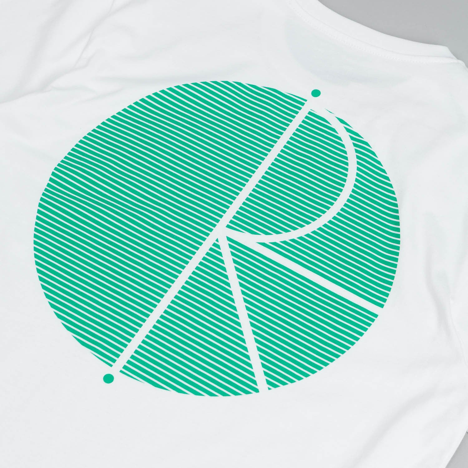 Polar Fill Logo - Behind The Curtain T Shirt White / Black - Green
