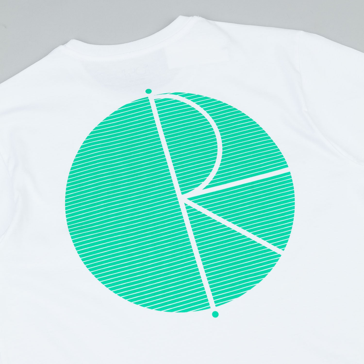 Polar Fill Logo Behind The Curtain T-Shirt - White / Green