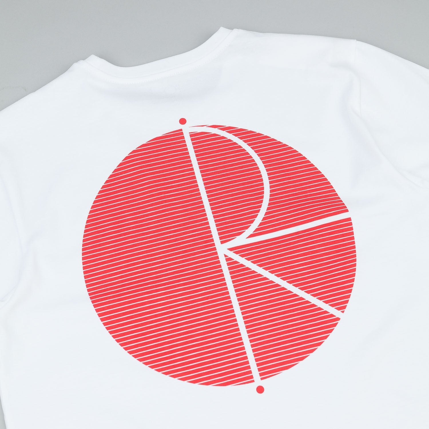 Polar Fill Logo Behind The Curtain T-Shirt - White / Red