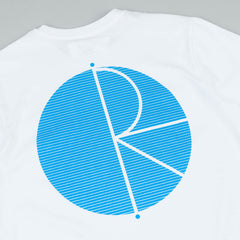 Polar Fill Logo Behind The Curtain T-Shirt - White / Sky Blue