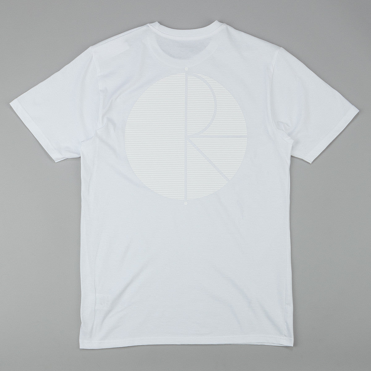 Polar Fill Logo Behind The Curtain T-Shirt - White / White