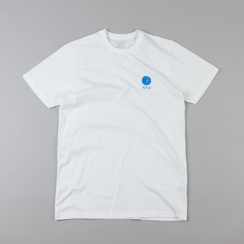 Polar Fill Logo Chest Print T-Shirt Off White / Blue