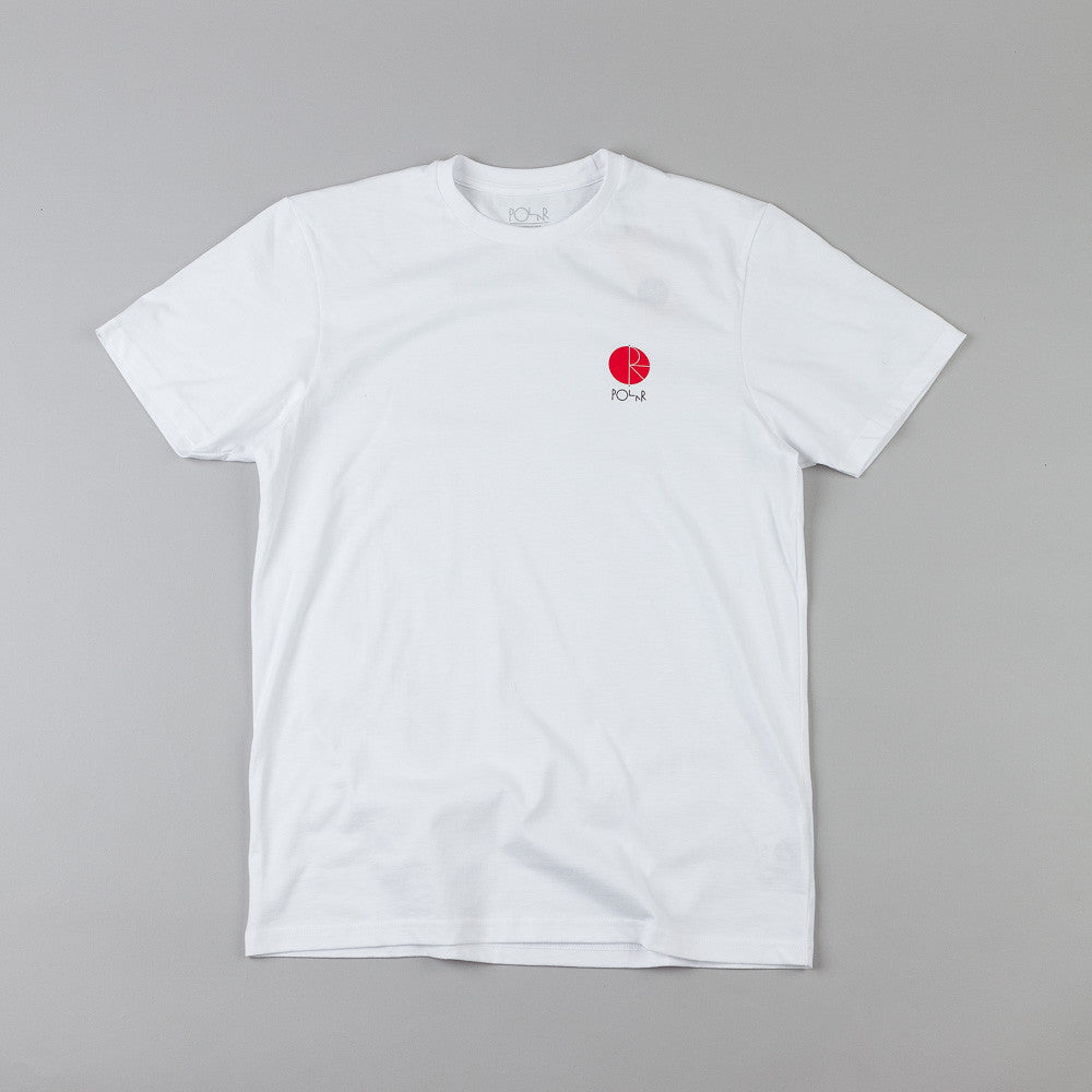 Polar Fill Logo Chest Print T-Shirt White / Red