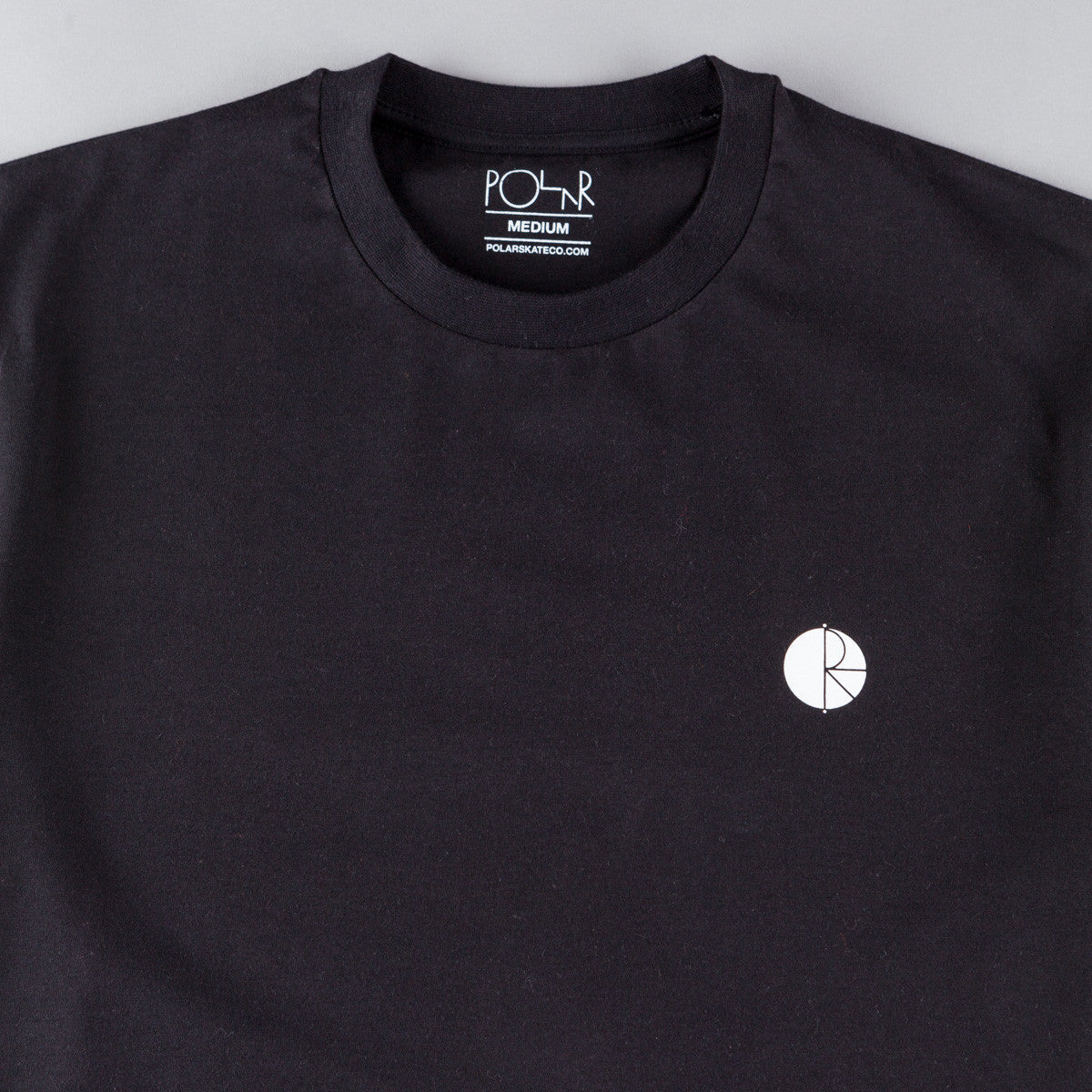 Polar Fill Logo Chest T-Shirt - Black / White