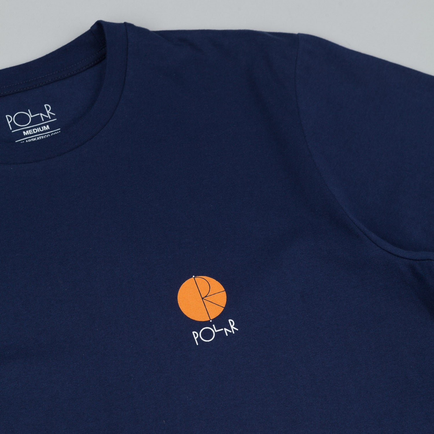 Polar Fill Logo Chest T-Shirt - Navy / Orange Fill Logo