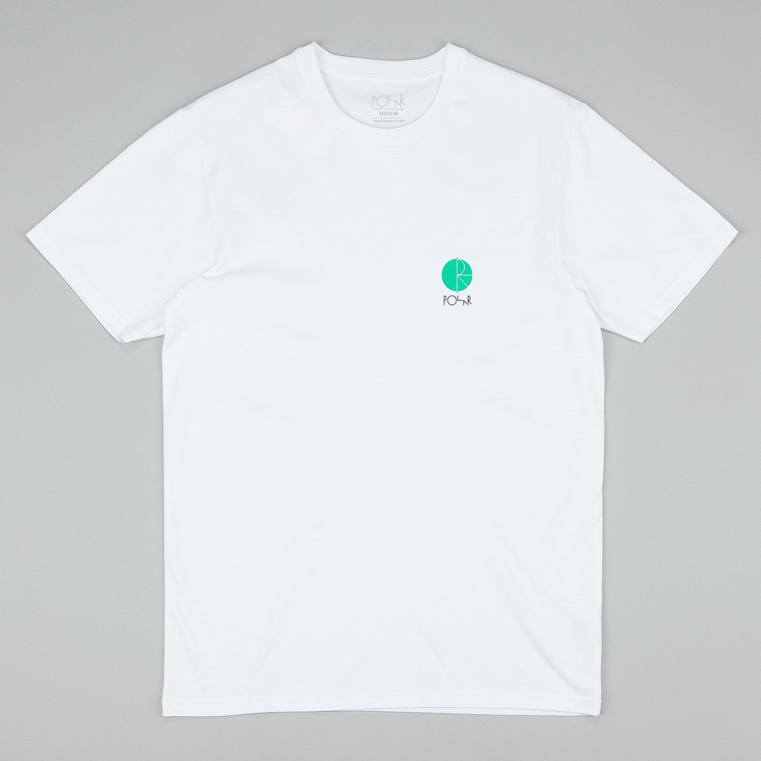 Polar Fill Logo Chest T-Shirt - White / Green Fill Logo