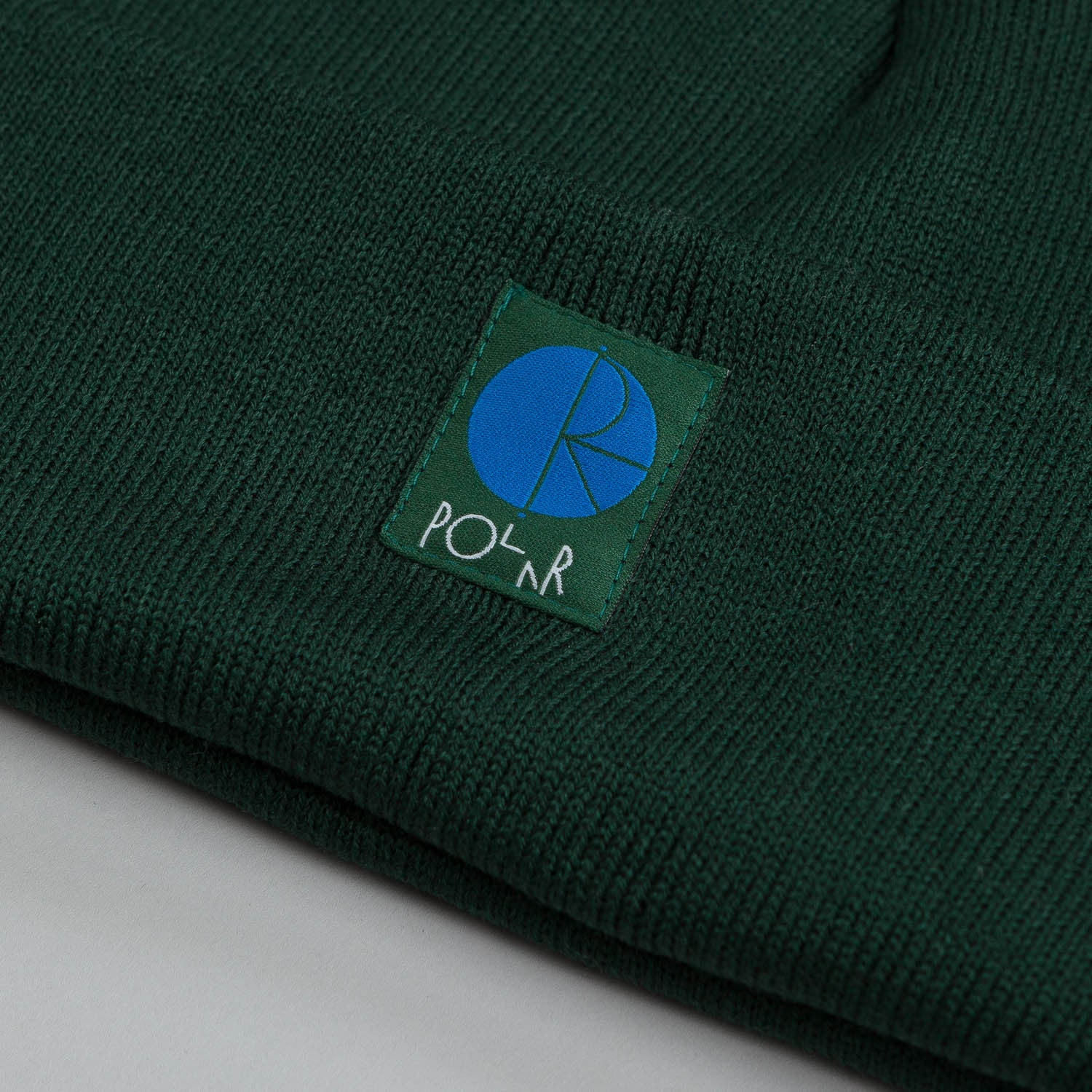 Polar Fill Logo Beanie Forest Green / Cyan