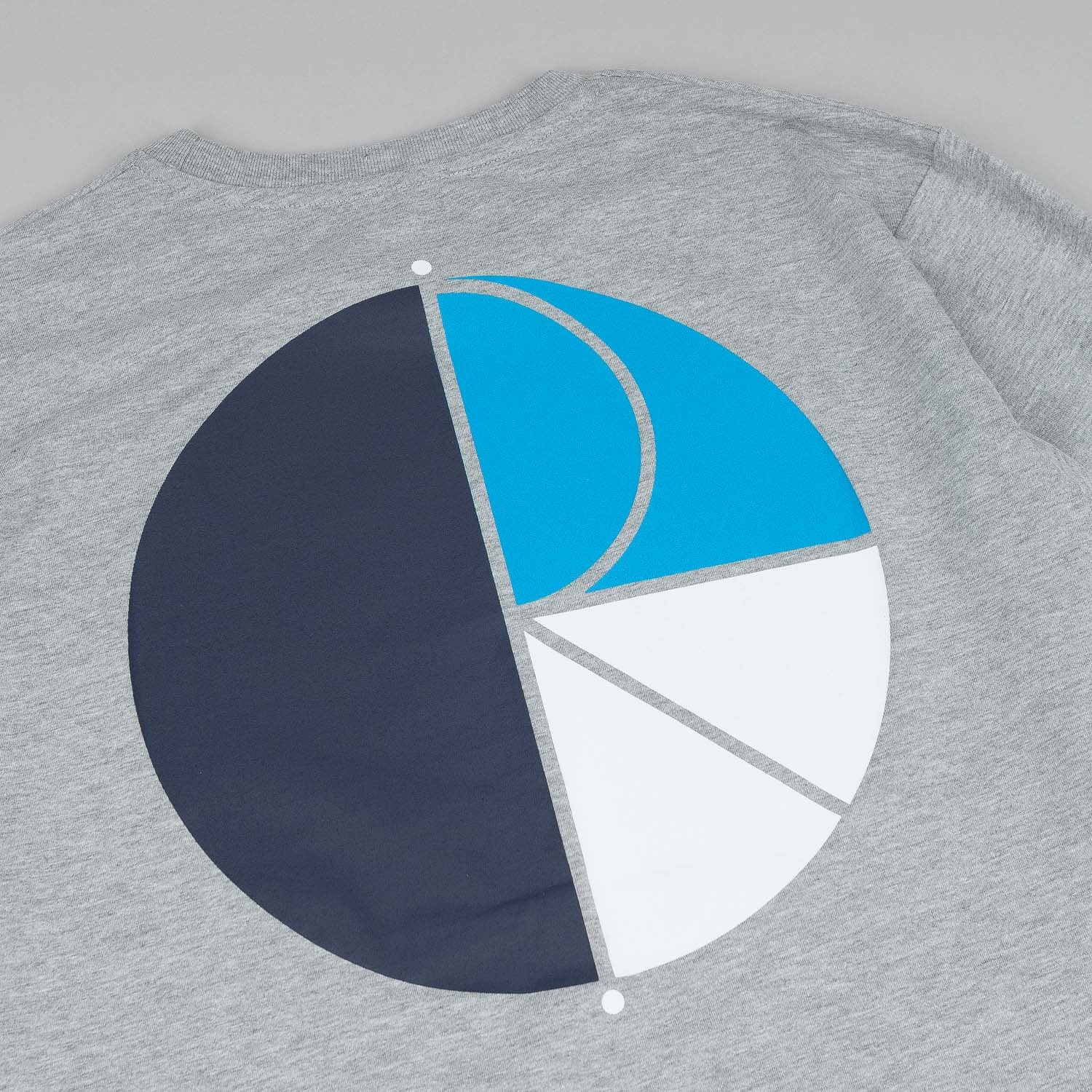 Polar Fill Logo L/S T-Shirt - Heather Grey / Blue