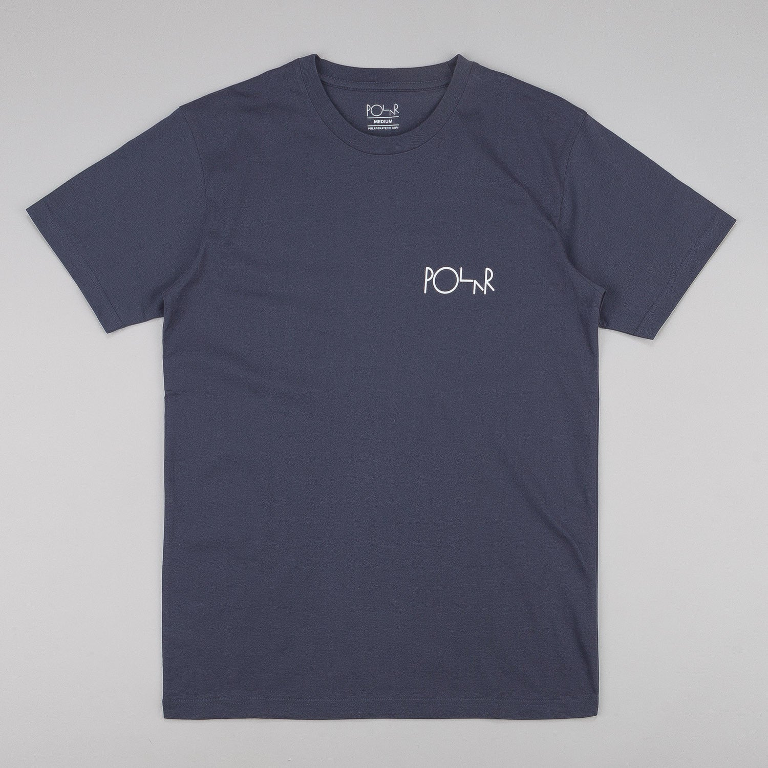 Polar Fill Logo T-Shirt - Charcoal Grey / Aqua / White