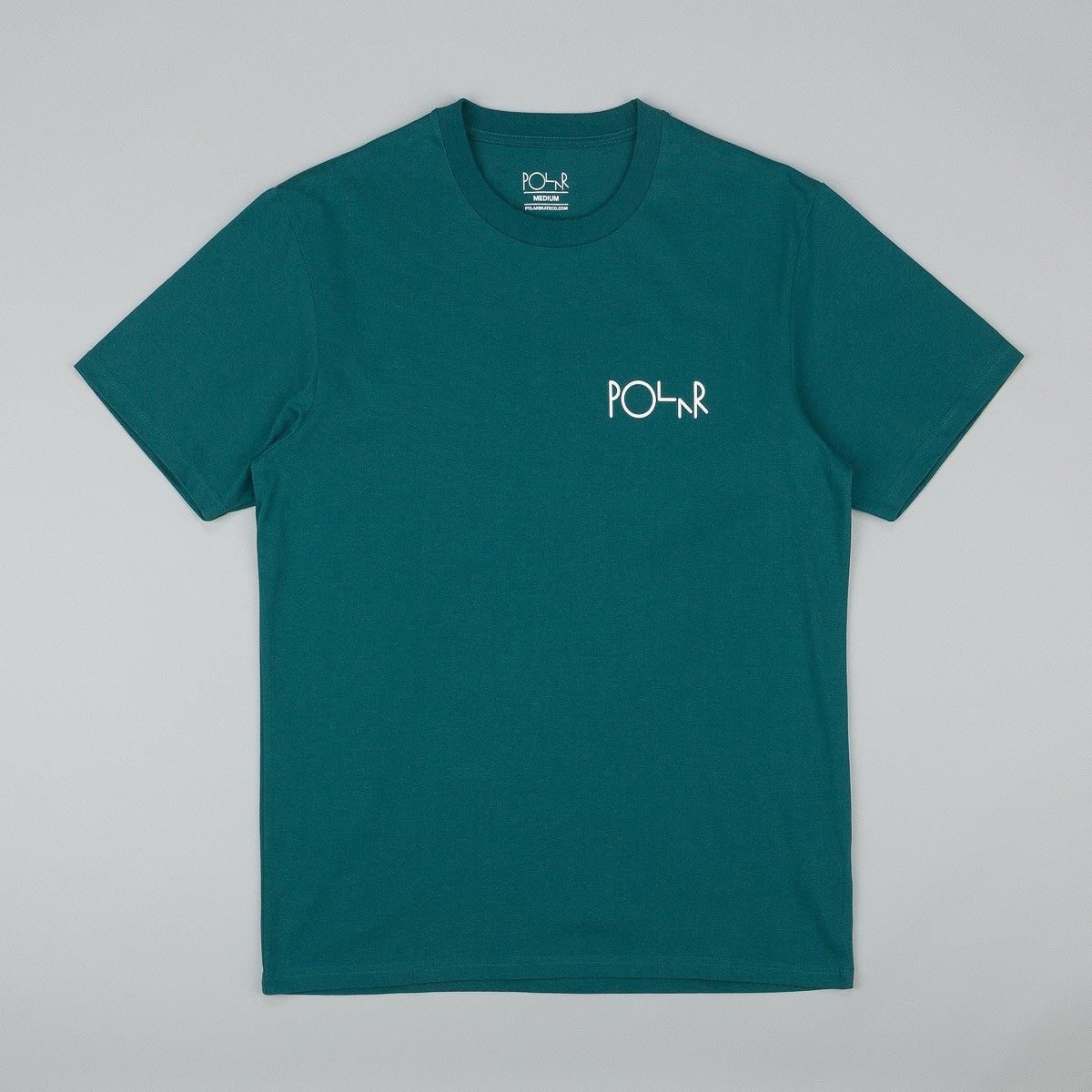 Polar Fill Logo T-Shirt - Deep Sea Green / White