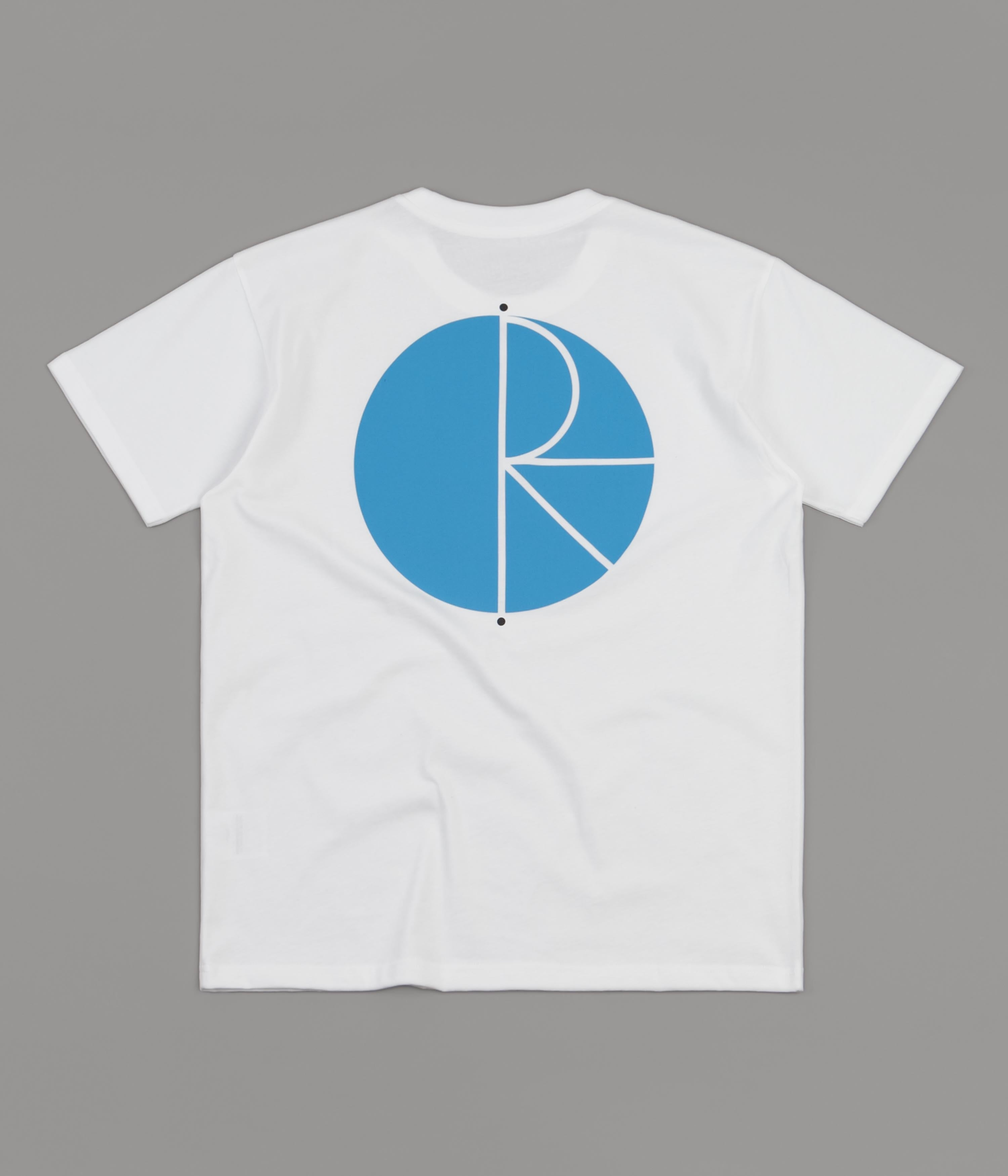 Polar Fill Logo T-Shirt - White / Blue