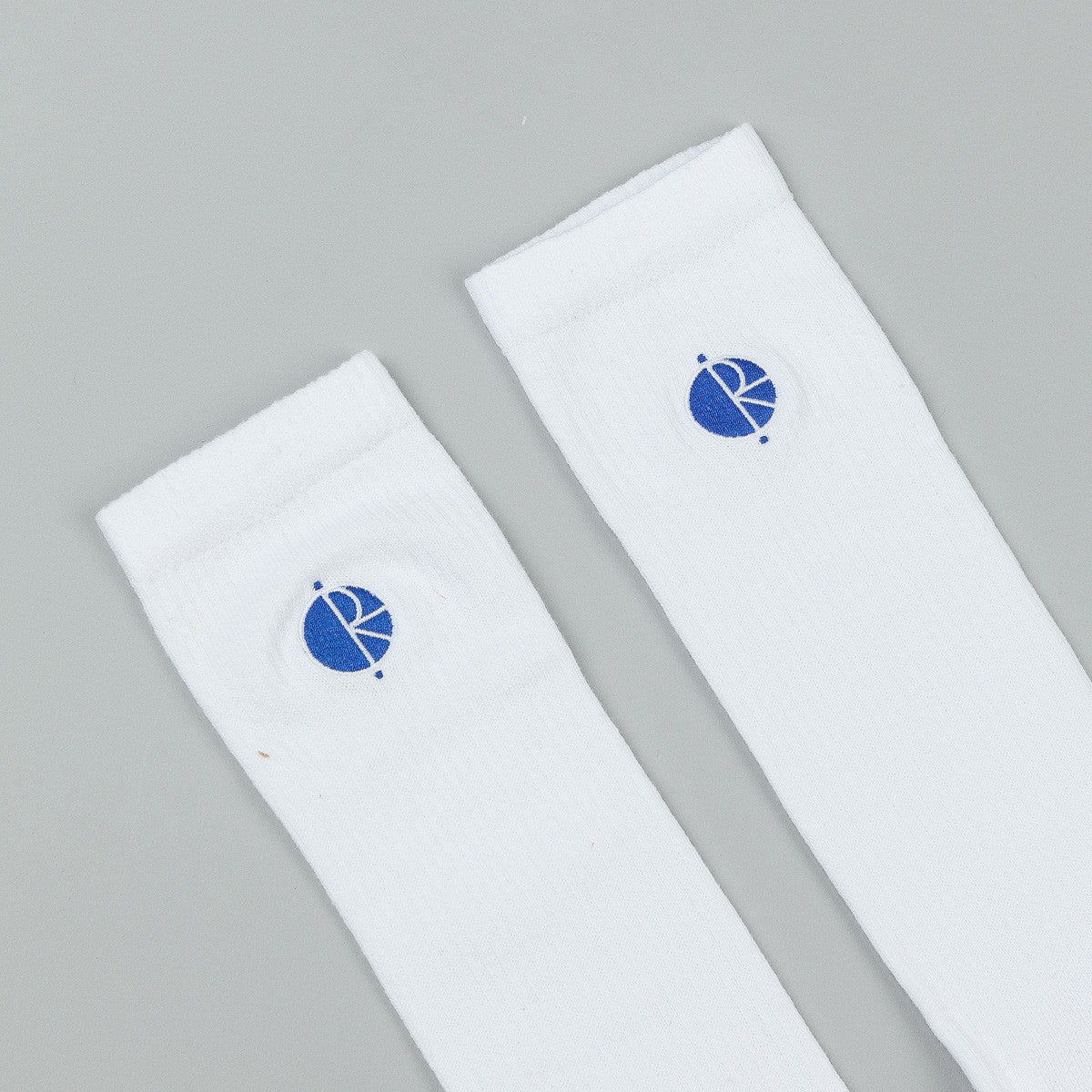 Polar Fill Logo Technology Socks - White / Blue