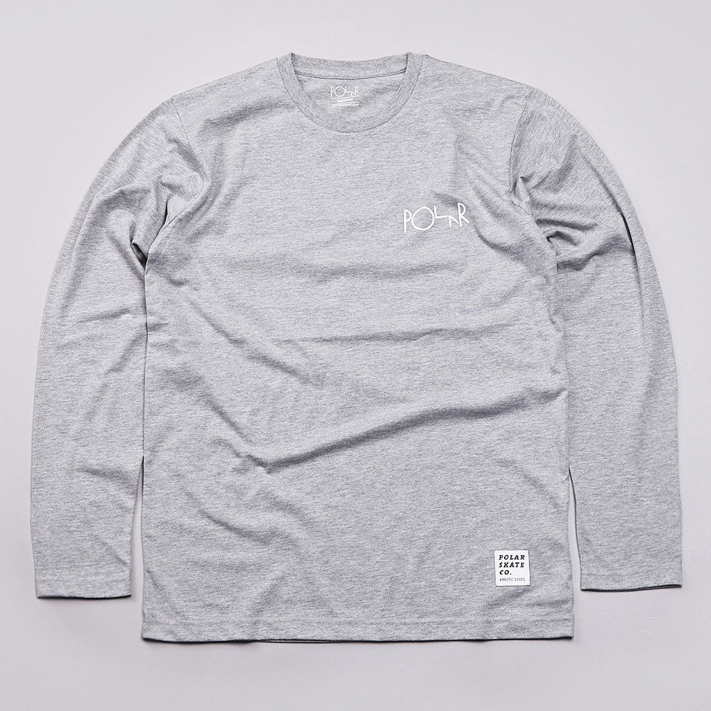 Polar Fill Logo Long Sleeve T Shirt Heather Grey
