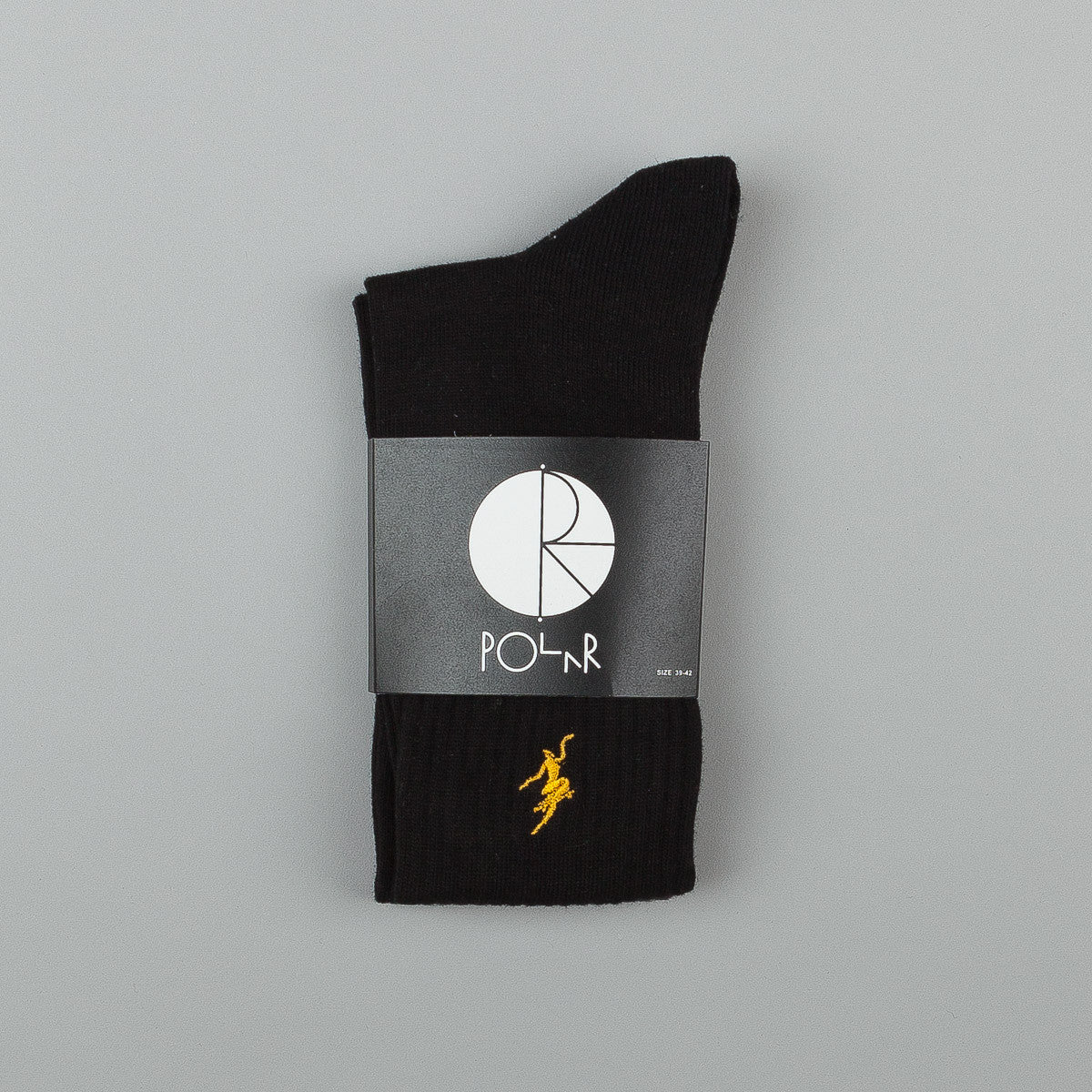 Polar No Comply Sports Socks - Black / Yellow