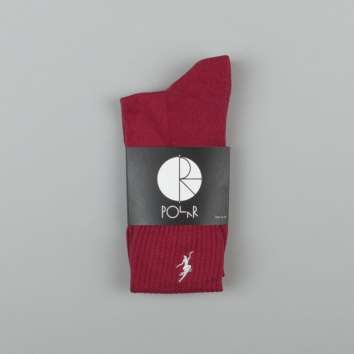 Polar No Comply Sports Socks - Red Wine / White