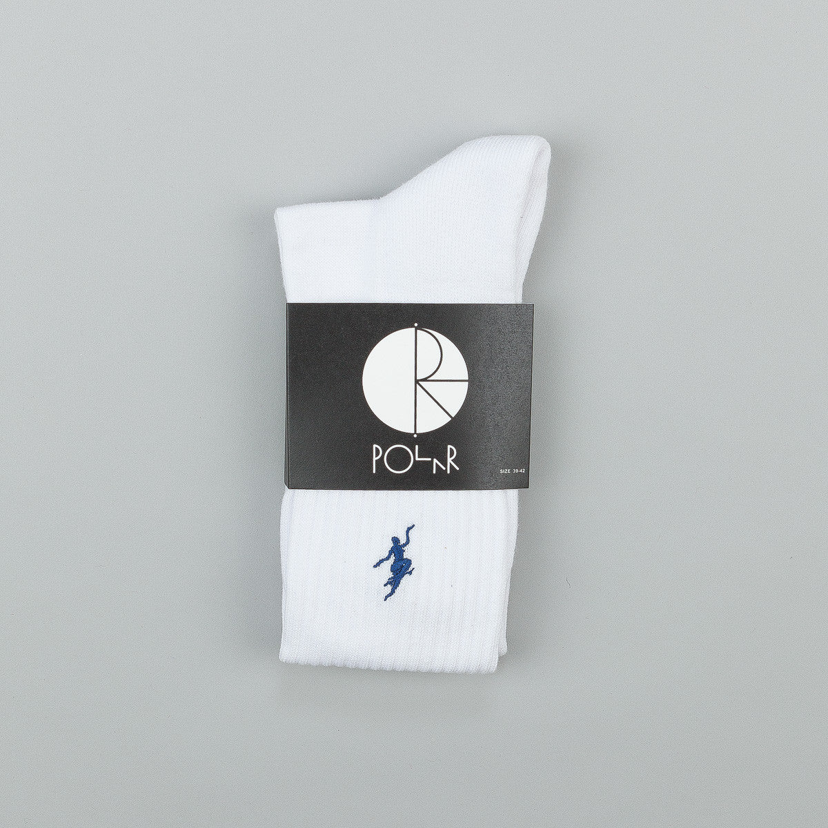 Polar No Comply Sports Socks - White / Navy