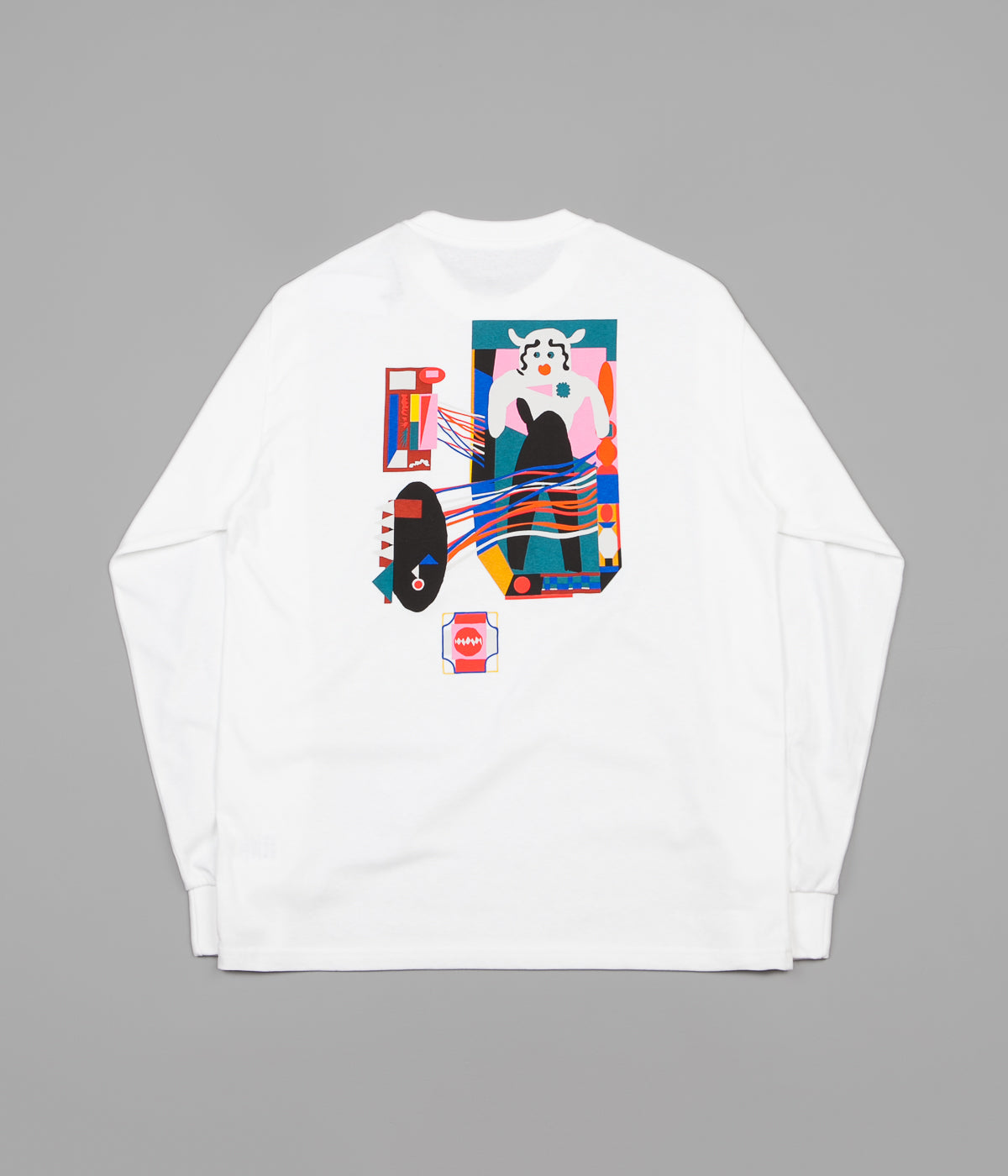 Polar Frequency Long Sleeve T-Shirt - White