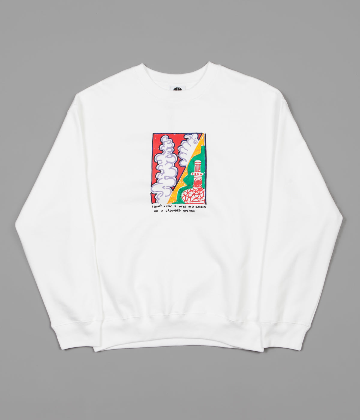 Polar Garden Avenue Crewneck Sweatshirt - White