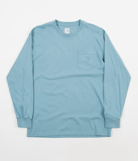 Polar Garment Dyed Long Sleeve Pocket T-Shirt - Washed Teal