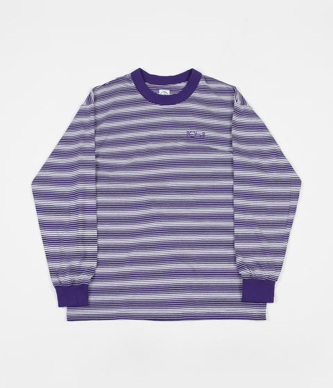 Polar Gradient Long Sleeve T-Shirt - Deep Purple / White
