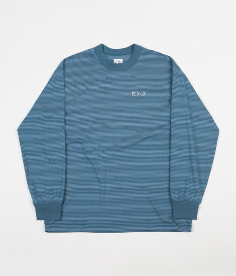 Polar Gradient Long Sleeve T-Shirt - Grey Blue