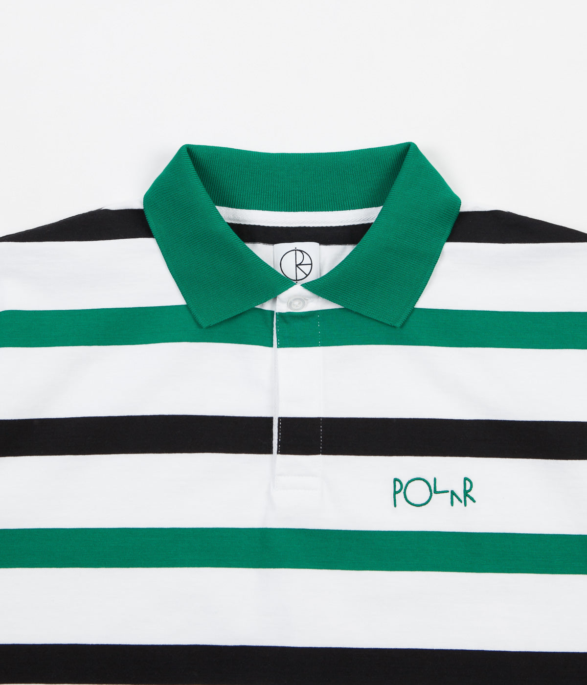 Polar Halls Rugby Shirt - White / Green / Black