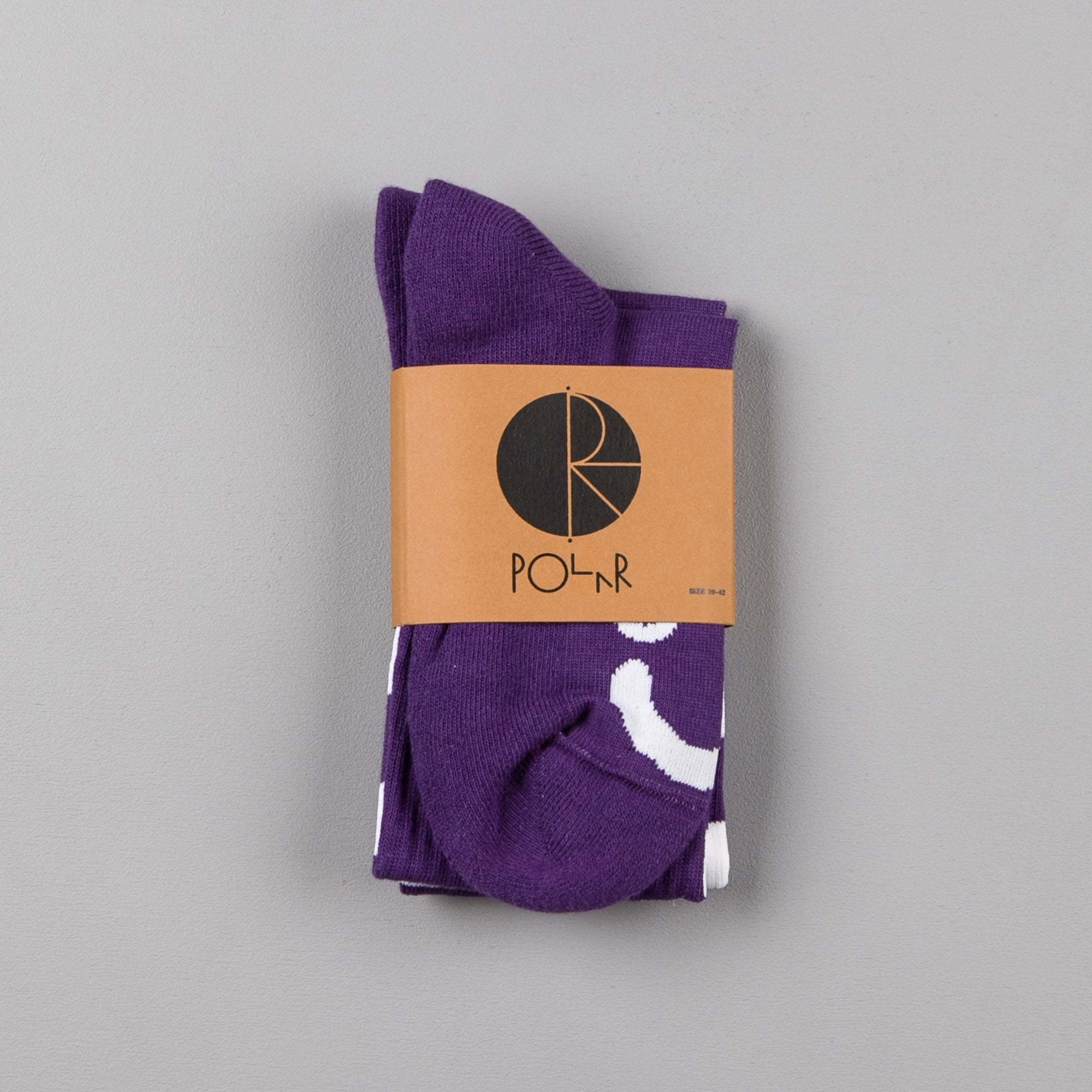 Polar Happy Sad Classic Socks - Deep Prune / White
