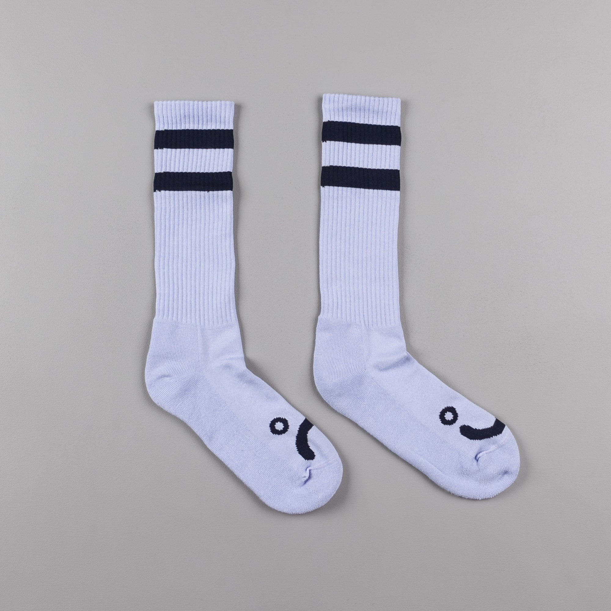 Polar Happy Sad Classic Socks - Pastel Blue