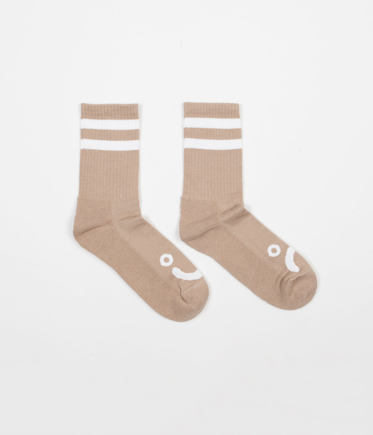 Polar Happy Sad Classic Socks - Sand