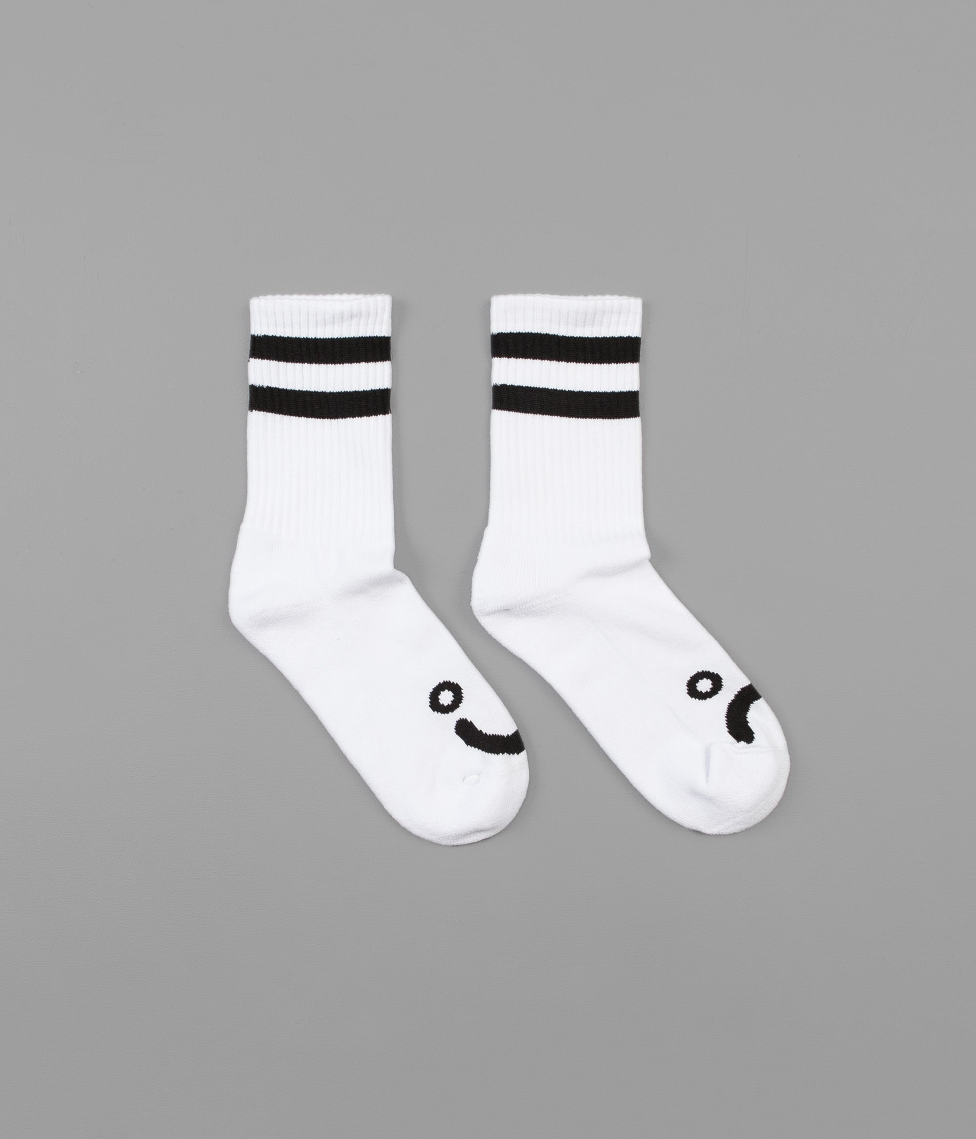 Polar Happy Sad Classic Socks - White