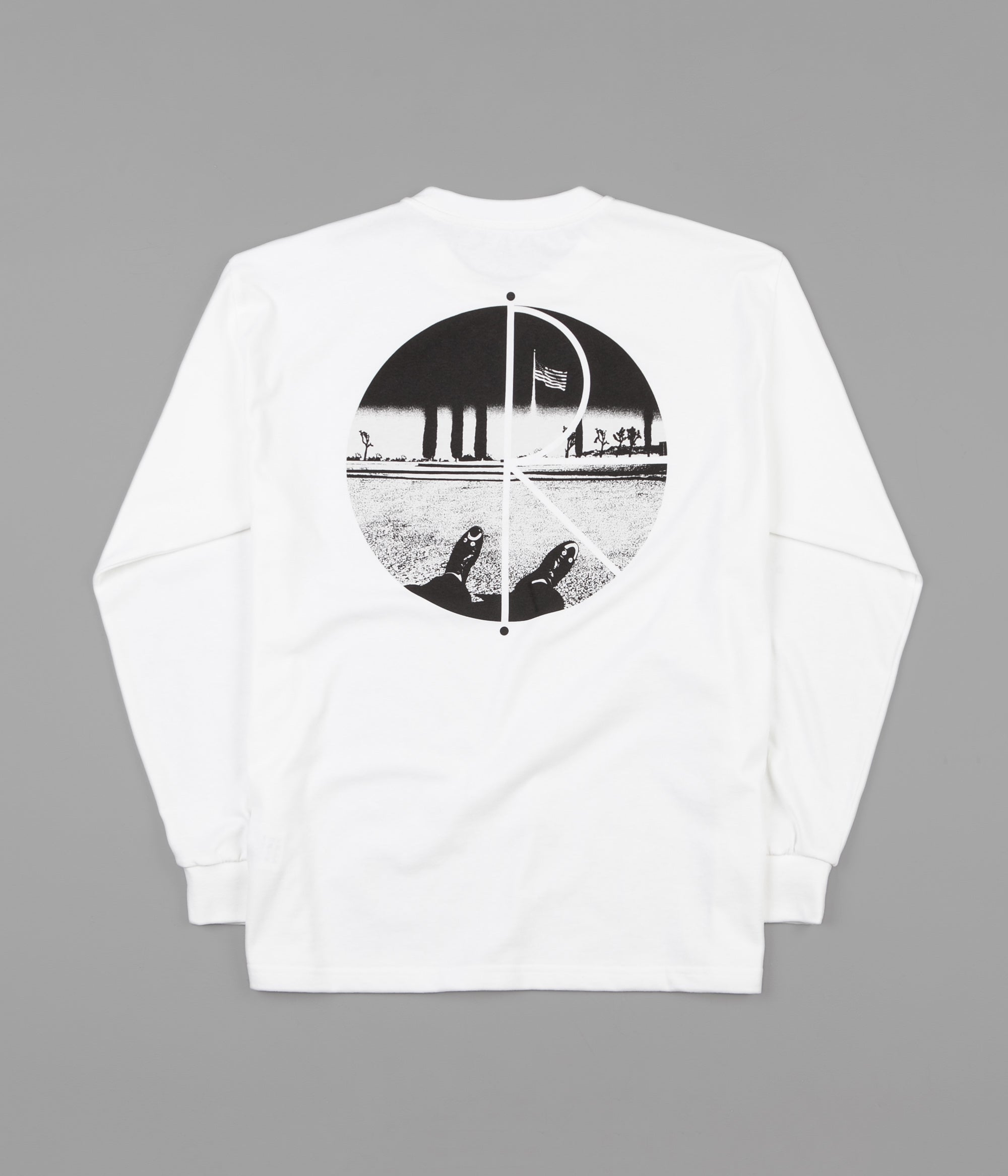 Polar Happy Sad Fill Logo Long Sleeve T-Shirt - White