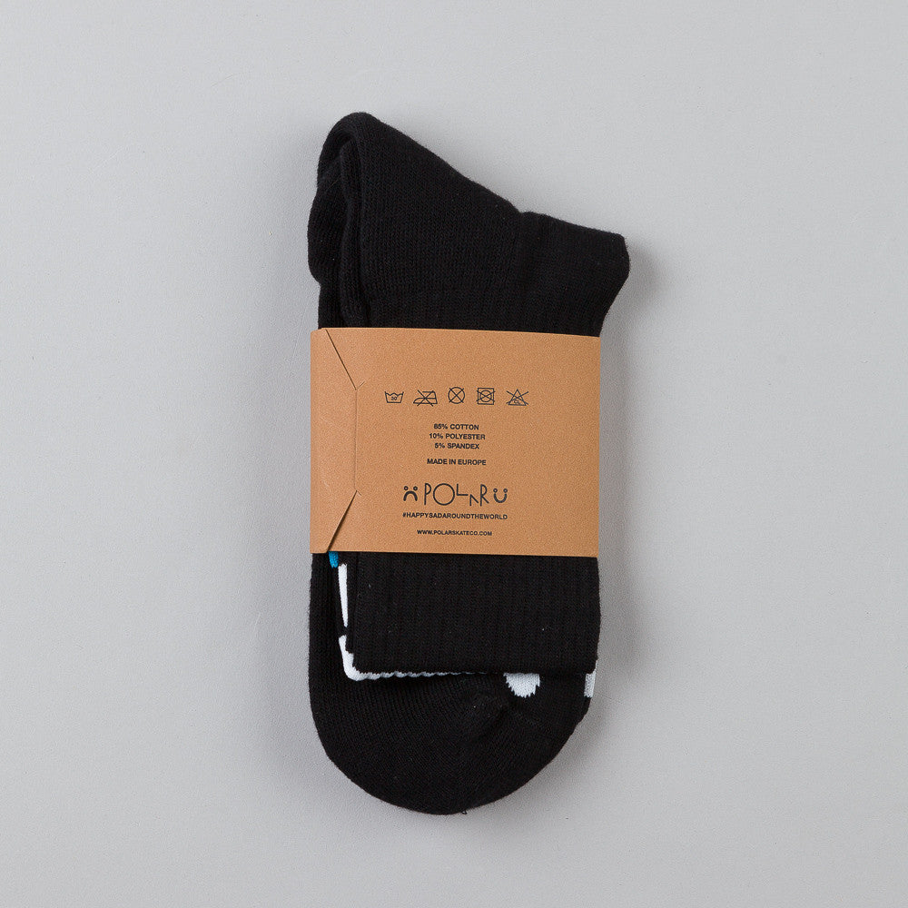 Polar Happy Sad Socks Black / Blue / White