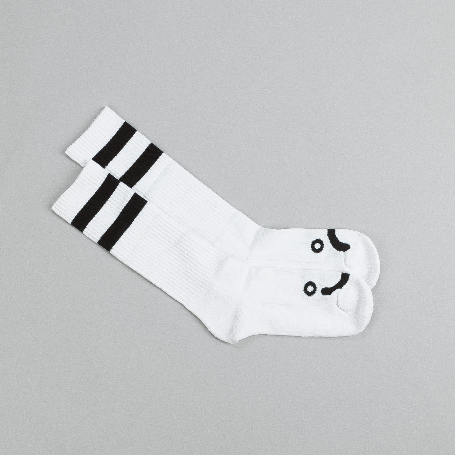 Polar Happy Sad Socks - Classic - White / Black