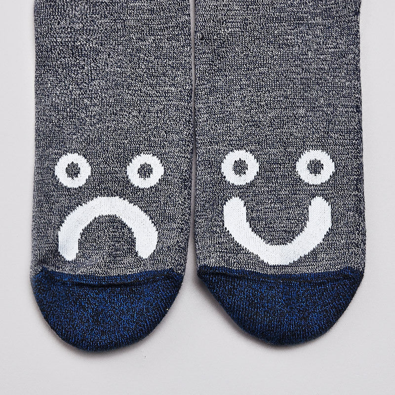 Polar Happy Sad Socks Fleck Grey / Navy