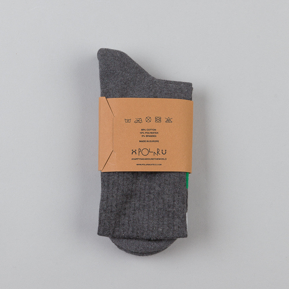 Polar Happy Sad Socks Grey / Green / White