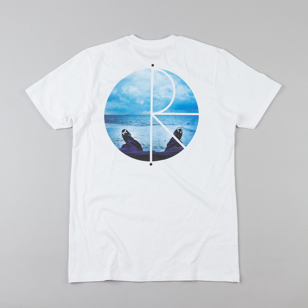 Polar Happy Sad Fill Logo Photo T-Shirt White
