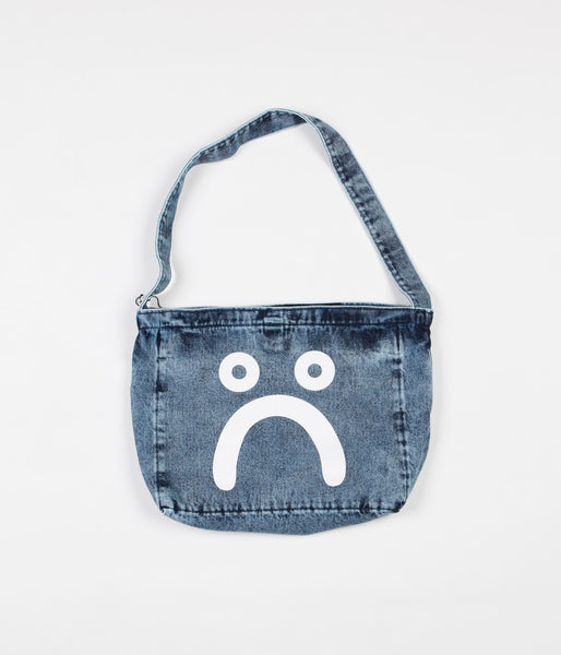 Polar Happy Sad Tote Bag - Acid Blue