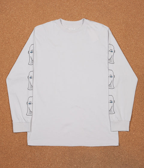 Polar Heads Long Sleeve T-Shirt - Ice Grey