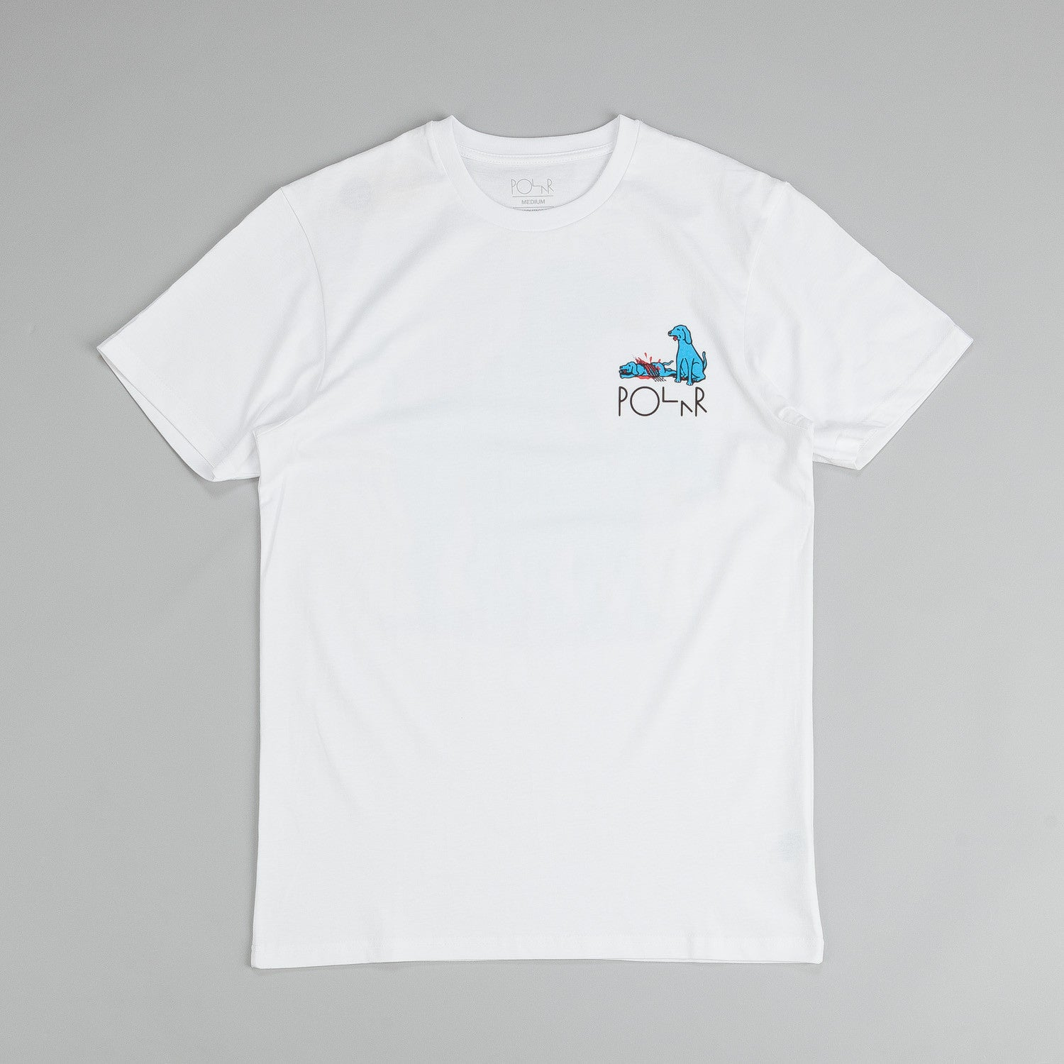 Polar Humping Dogs T Shirt White / Blue