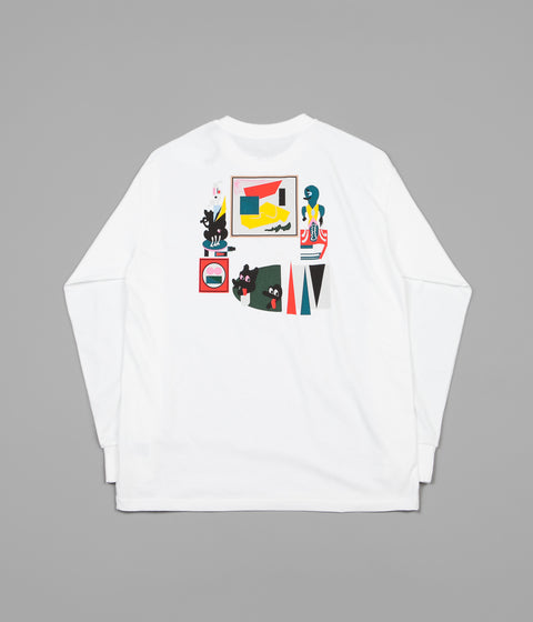 Polar Hypergamy Long Sleeve T-Shirt - White