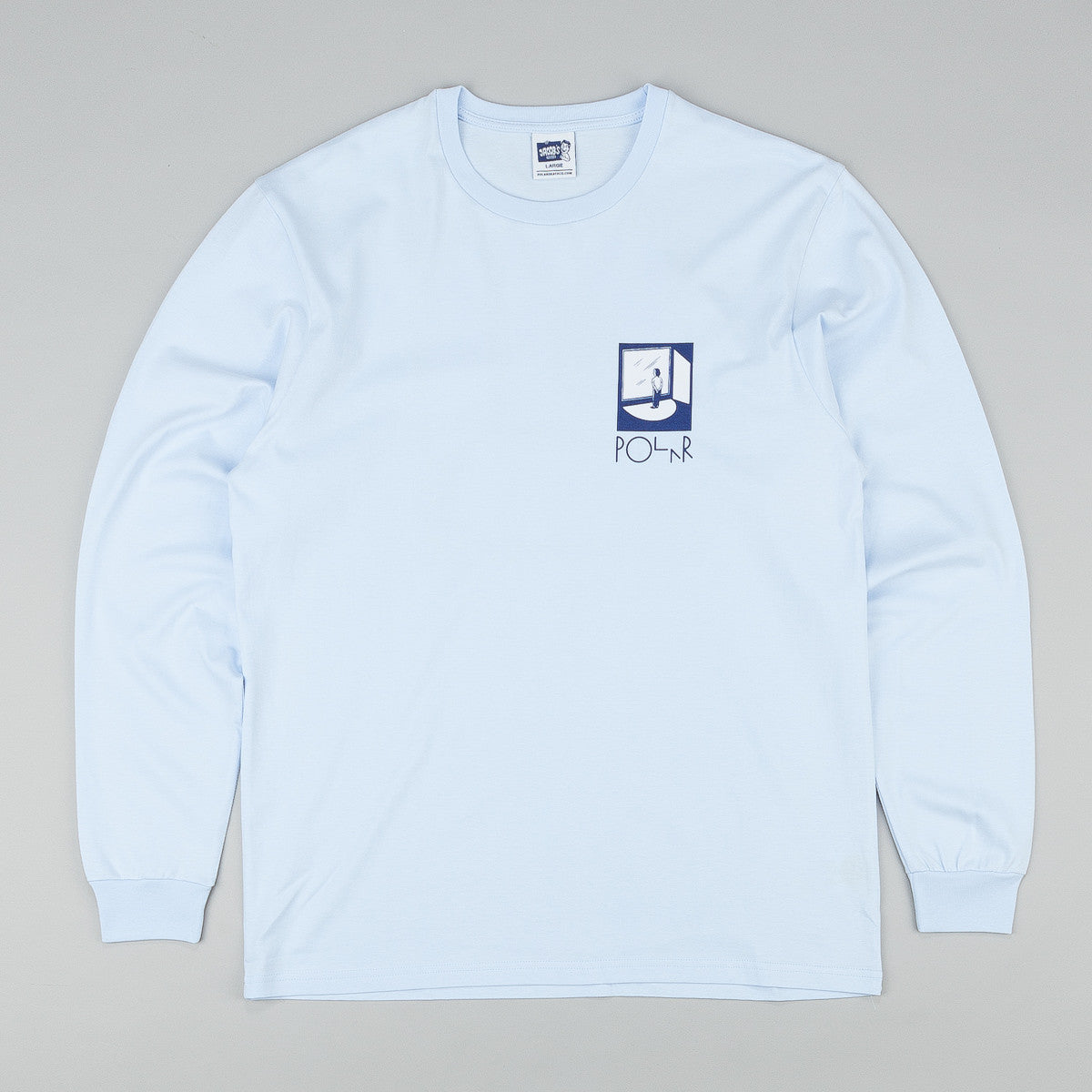 Polar Jacob's Corner Fuck It L/S T-Shirt - Pastel Blue / Navy / White