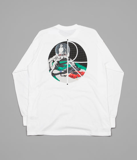 Polar Lambo Life Fill Logo Long Sleeve T-Shirt - White