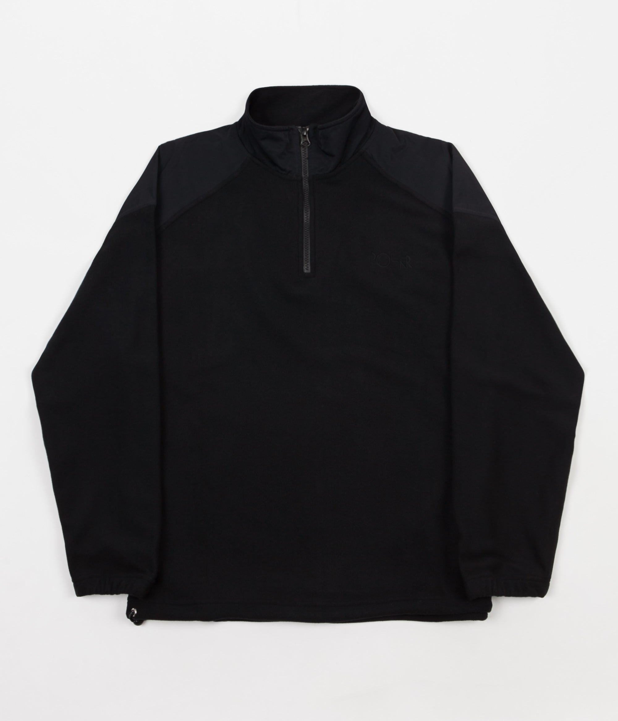 Polar Lightweight Fleece 1/4 Zip Jacket - Black