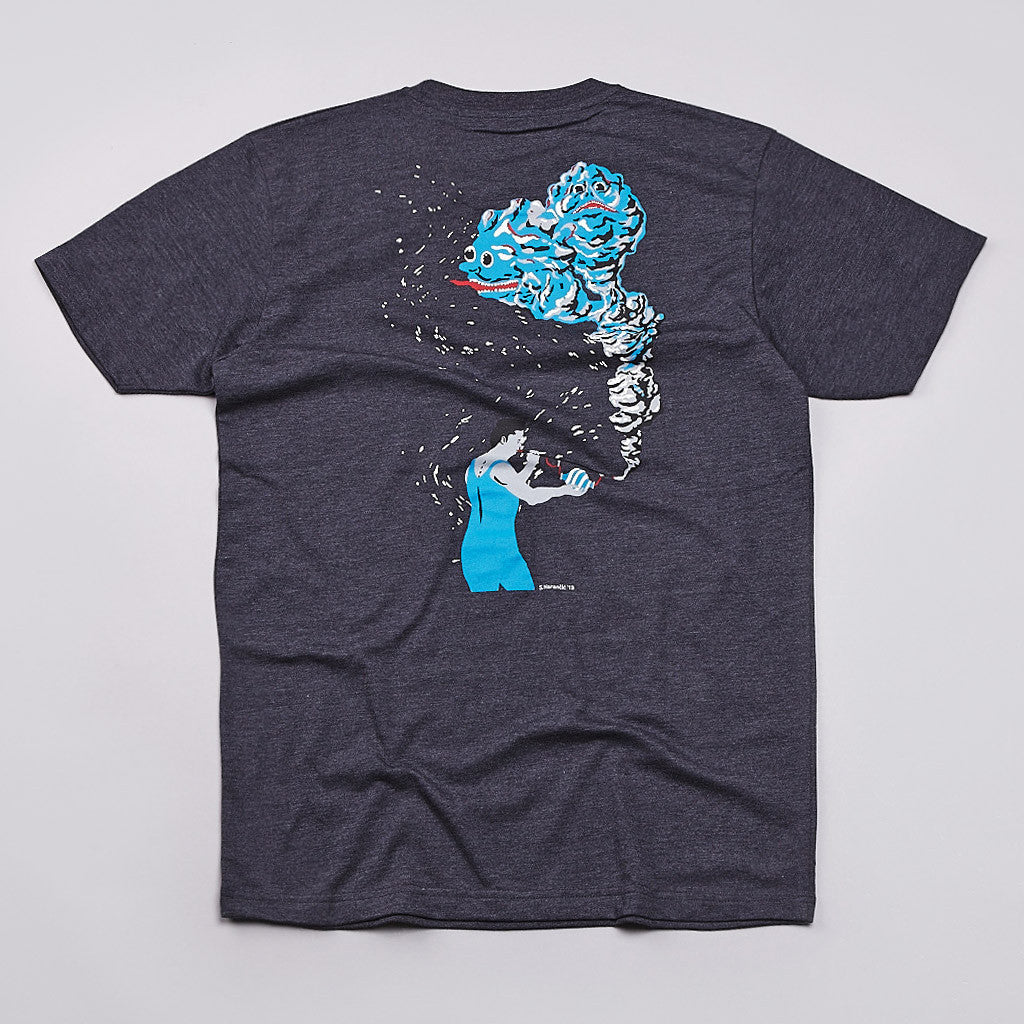 Polar Magic Puff T Shirt Dark Heather Blue