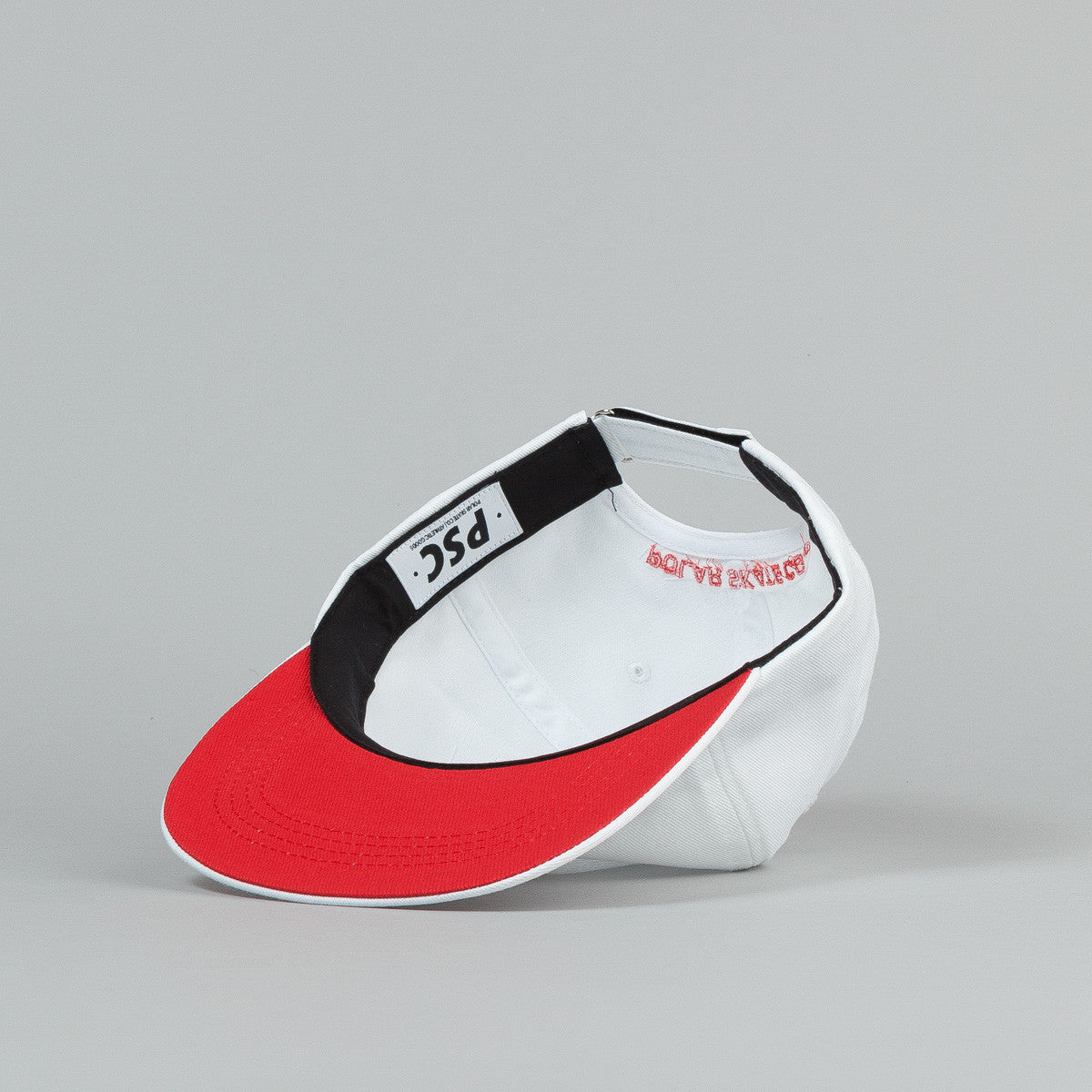 Polar No Comply Cap - White / Red Bottom Brim / Red